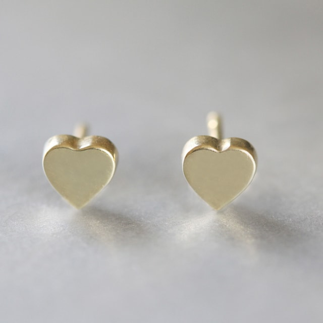HEART EARRINGS IN YELLOW GOLD - YELLOW GOLD FINE JEWELLERY - FINE JEWELLERY