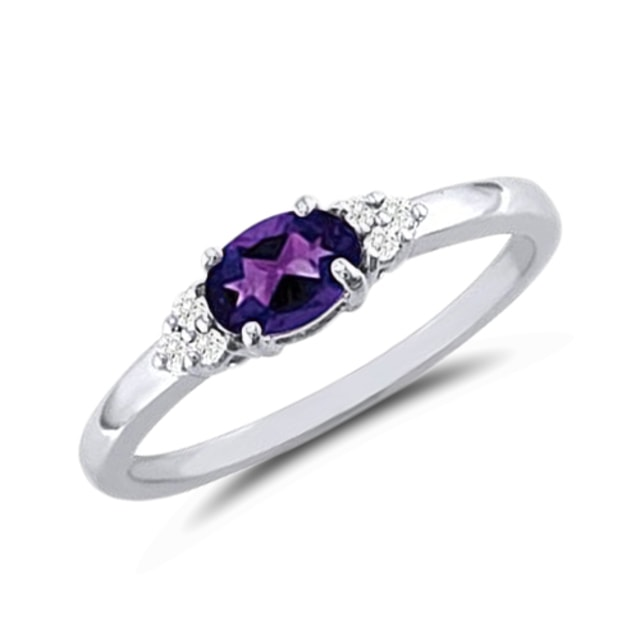 AMETHYST RING IN 14KT GOLD - AMETHYST RINGS - RINGS
