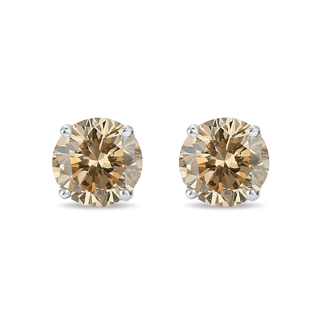 0.75KT DIAMOND EARRINGS IN WHITE GOLD - DIAMOND EARRINGS - EARRINGS