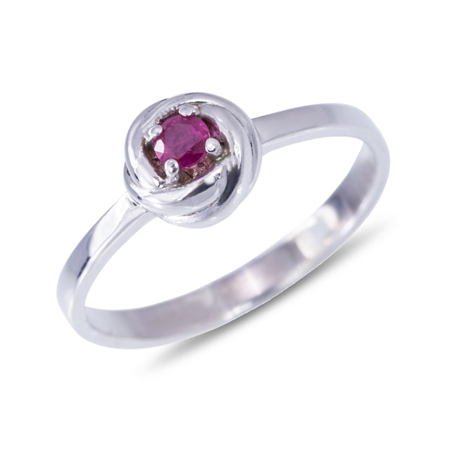 RUBY RING IN STERLING SILVER - STERLING SILVER RINGS - RINGS