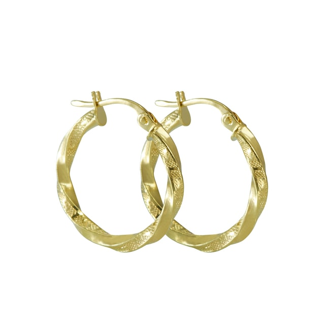 14KT GOLD HOOP EARRINGS - YELLOW GOLD EARRINGS - EARRINGS