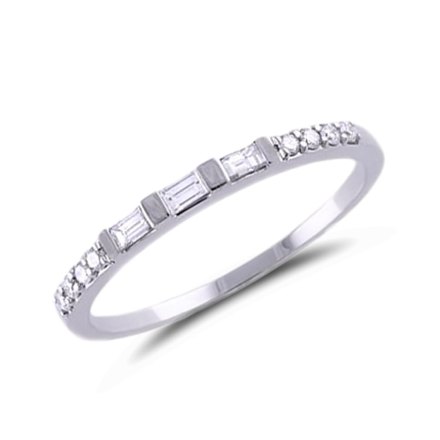 DIAMOND 14KT GOLD ENGAGEMENT RING - DIAMOND RINGS - RINGS
