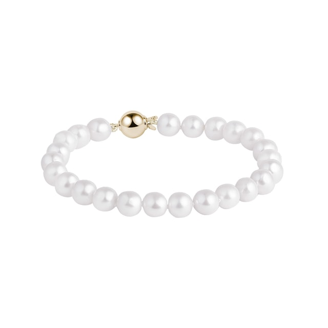 Akoya pearl bracelet in 14kt yellow gold