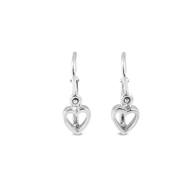 Baby 14kt gold heart earrings
