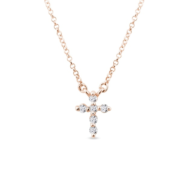 Gold diamond cross