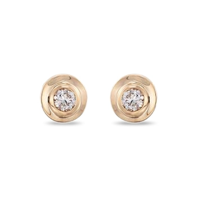 BRILLIANT STUD EARRINGS IN 14KT SOLID GOLD - YELLOW GOLD EARRINGS - EARRINGS