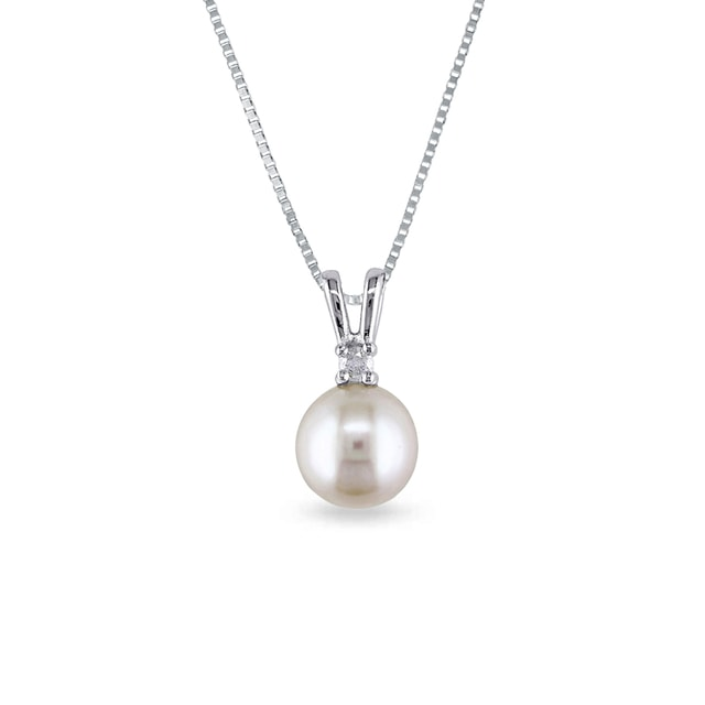 South Pacific pearl and diamond pendant in 14kt gold