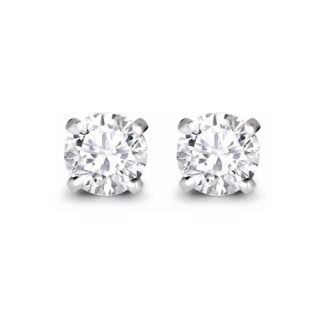 LUXURY DIAMOND EARRINGS IN 14KT WHITE GOLD - DIAMOND EARRINGS - EARRINGS