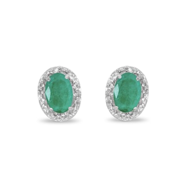 EMERALD EARRINGS, GOLD - EMERALD EARRINGS - EARRINGS