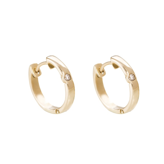 DIAMOND EARRINGS IN 14KT SOLID GOLD - DIAMOND EARRINGS - EARRINGS