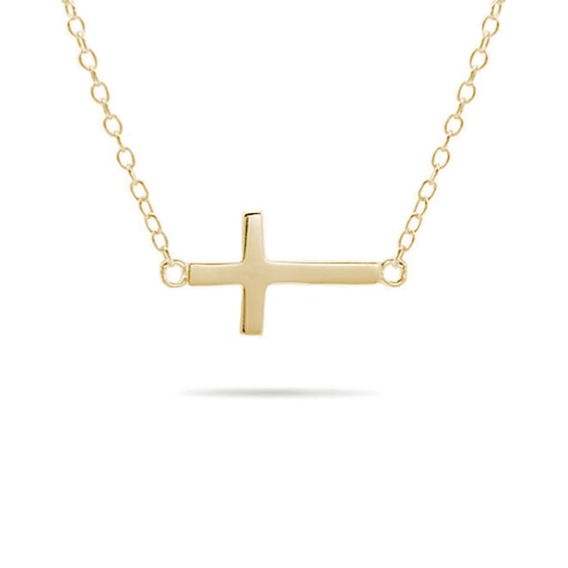 Cross pendant in 14kt gold