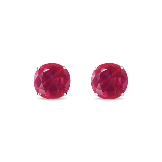 Ruby 14kt gold earrings