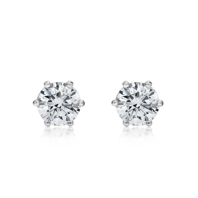 DIAMOND 18KT GOLD EARRINGS - STUD EARRINGS - EARRINGS