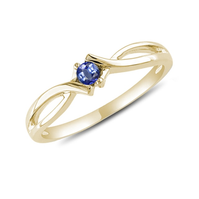 SAPPHIRE RING IN YELLOW GOLD - SAPPHIRE RINGS - RINGS