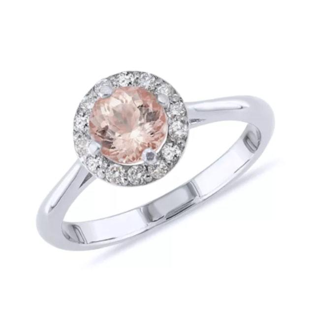 Exceptionnel KLENOTA | Bague en or rose avec diamants et morganite | Bijoux  MY48