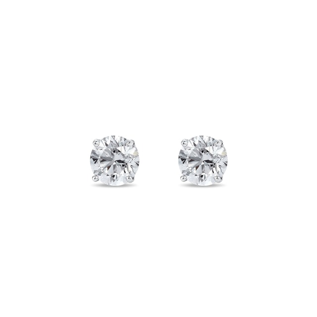 SILVER DIAMOND STUD EARRINGS - STUD EARRINGS - EARRINGS