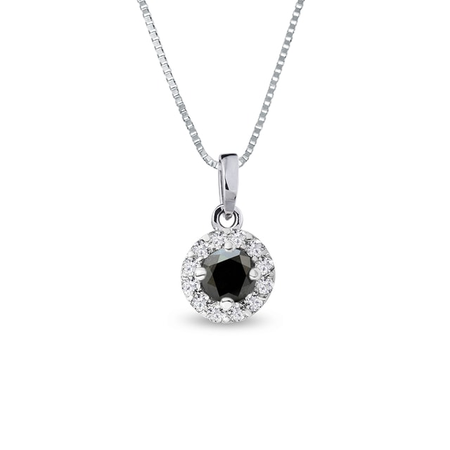 BLACK DIAMOND PENDANT - DIAMOND PENDANTS - PENDANTS