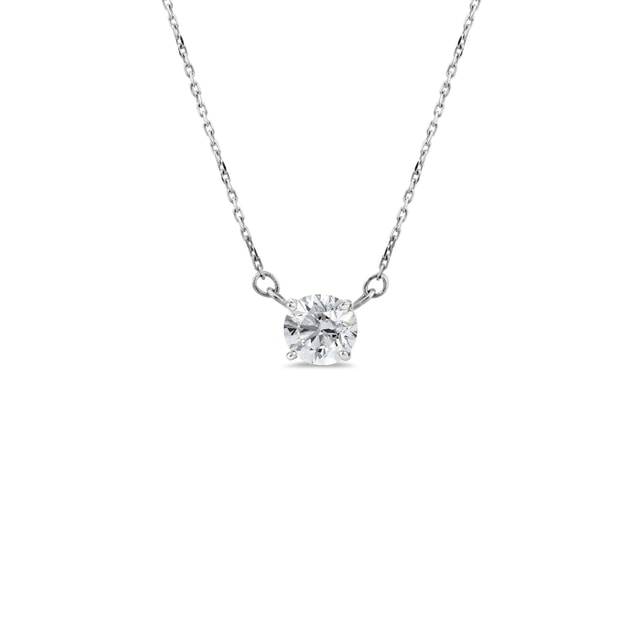 Necklace made of white gold with diamond