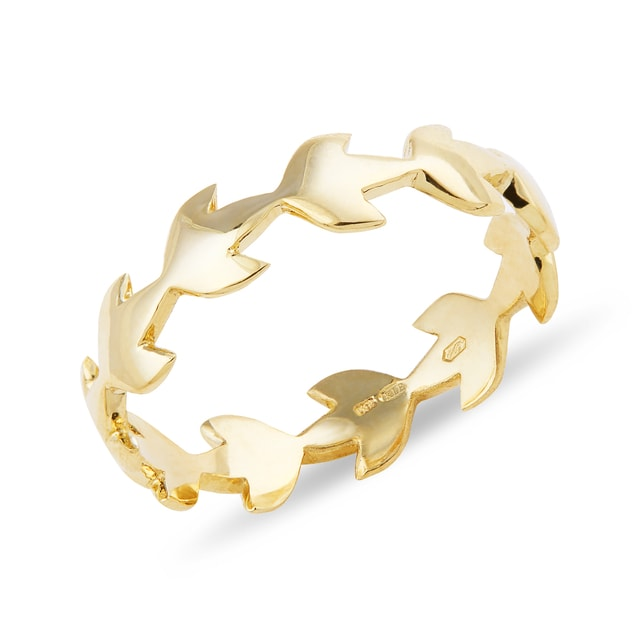 YELLOW GOLD RING - YELLOW GOLD RINGS - RINGS