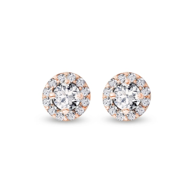 DIAMOND EARRINGS IN ROSE GOLD - DIAMOND EARRINGS - EARRINGS