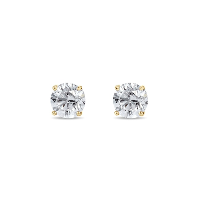 0.14KT DIAMOND EARRINGS IN 14KT GOLD - STUD EARRINGS - EARRINGS