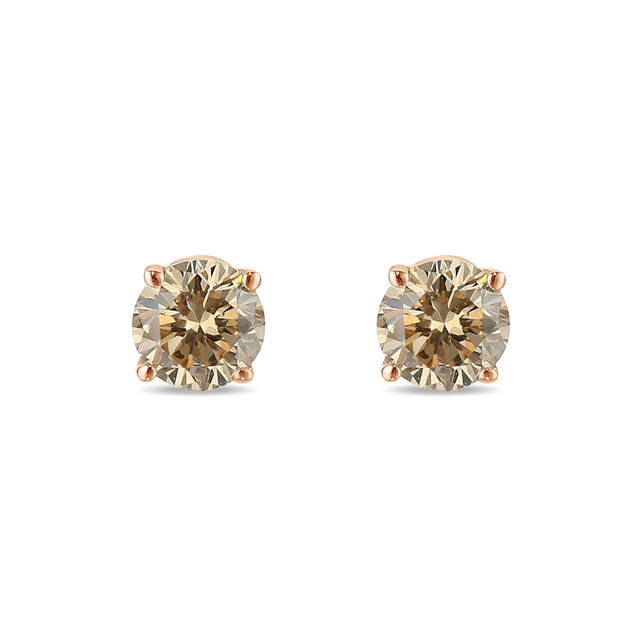 Champagne diamond stud earrings