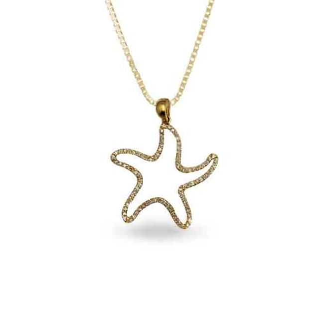 PENDANT STARFISH - DIAMOND PENDANTS - PENDANTS