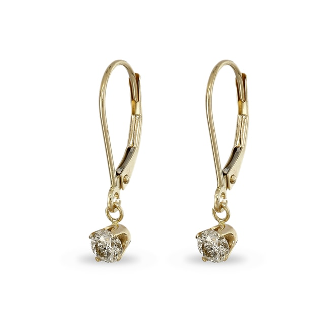 DIAMOND 14KT GOLD EARRINGS - DIAMOND EARRINGS - EARRINGS