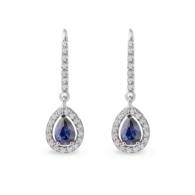 Tanzanite and diamond earrings in 14kt gold