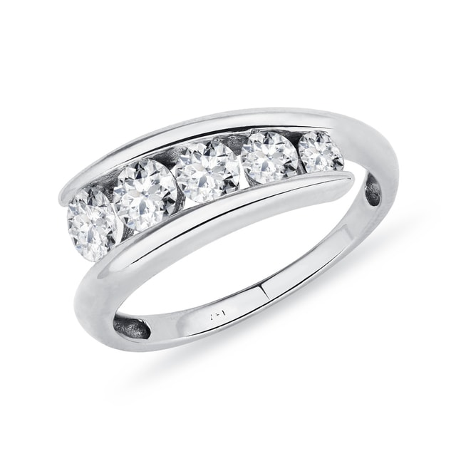 WHITE GOLD RING WITH DIAMONDS - RINGS FOR HER - WEDDING RINGS