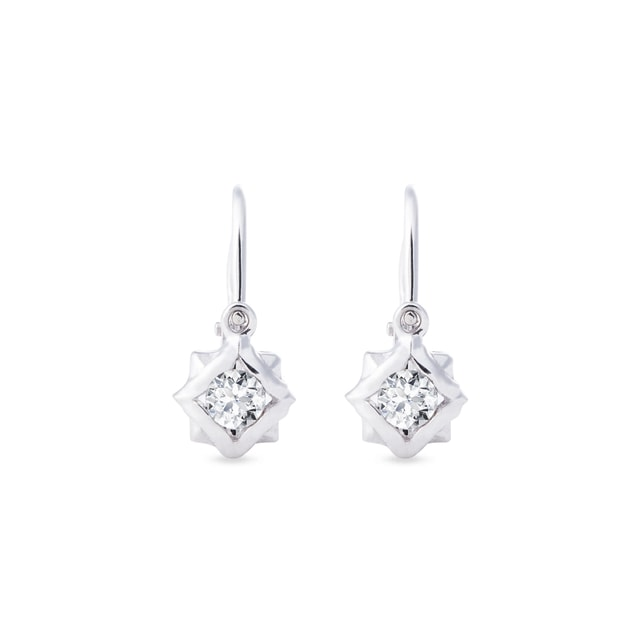 Baby 14kt white gold earrings
