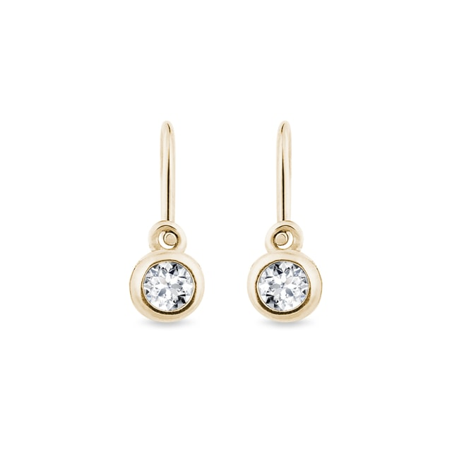 Children earrings with diamonds