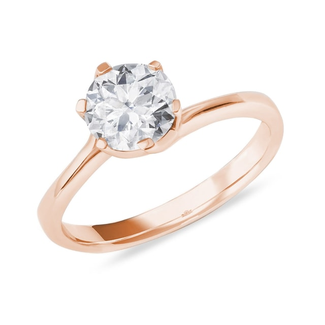 Engagement ring with a diamond