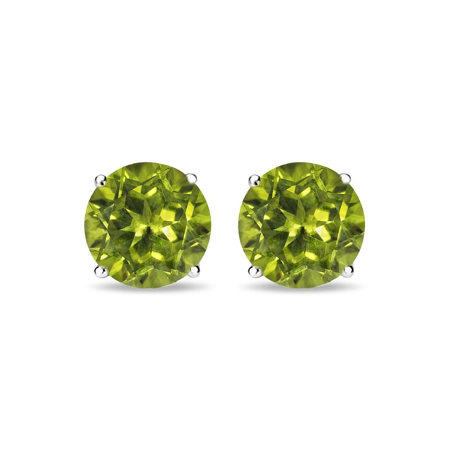 Peridot stud earrings in 14kt gold
