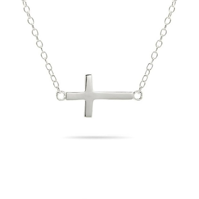 CROSS NECKLACE IN 14KT WHITE GOLD - CROSS PENDANTS - PENDANTS