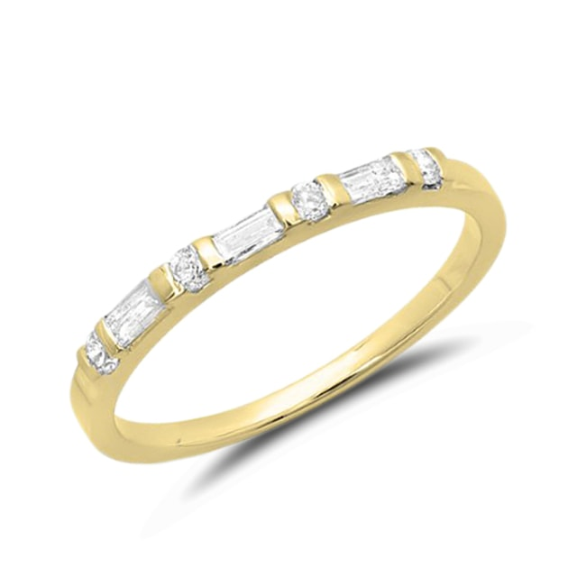 DIAMOND RING IN 14KT YELLOW GOLD - DIAMOND RINGS - RINGS