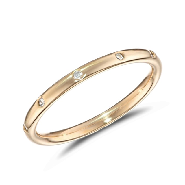 DIAMOND WEDDING RING IN 14KT GOLD - DIAMOND RINGS - RINGS