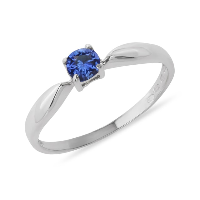 GOLD RING WITH BLUE SAPPHIRE - SAPPHIRE RINGS - RINGS