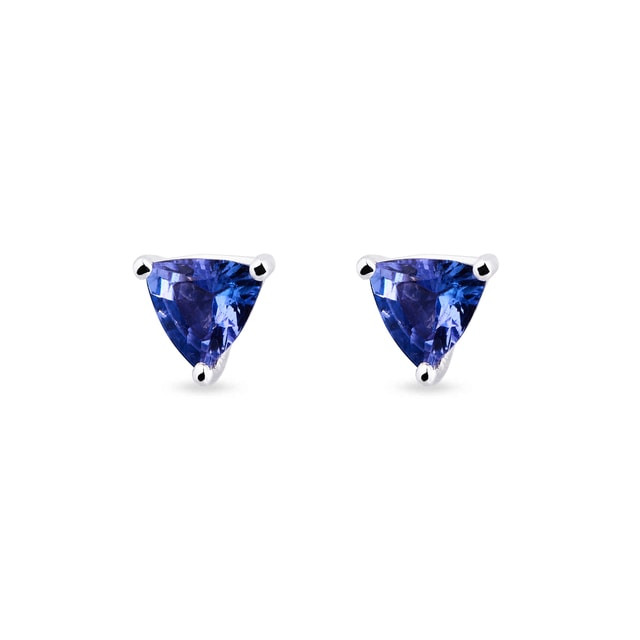 TANZANITE STUD EARRINGS IN 14KT GOLD - GEMSTONES EARRINGS - EARRINGS