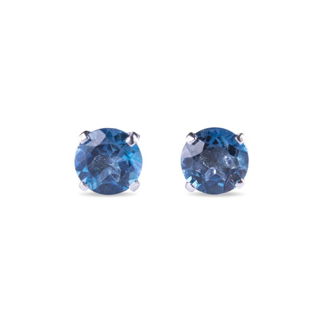 LONDON TOPAZ 14KT GOLD EARRINGS - TOPAZ EARRINGS - EARRINGS