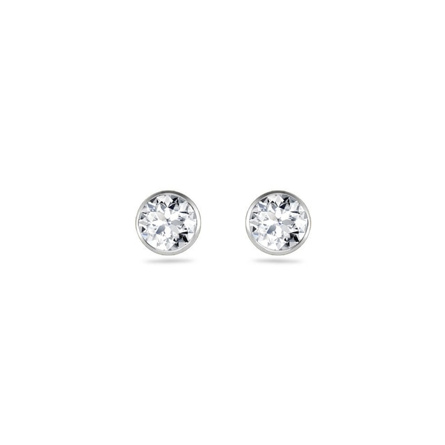 DIAMOND EARRINGS IN 14KT GOLD - STUD EARRINGS - EARRINGS