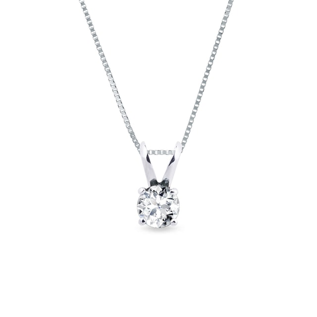 White gold pendant with a 0.5ct diamond