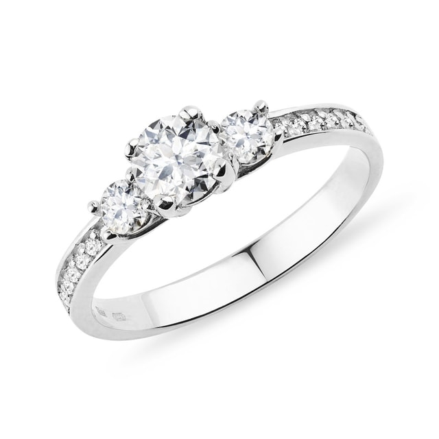 GOLD RING WITH DIAMONDS - ENGAGEMENT DIAMOND RINGS - ENGAGEMENT RINGS