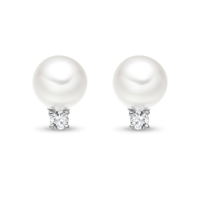 AKOYA PEARL EARRINGS IN 14KT GOLD - PEARL EARRINGS - PEARL JEWELRY