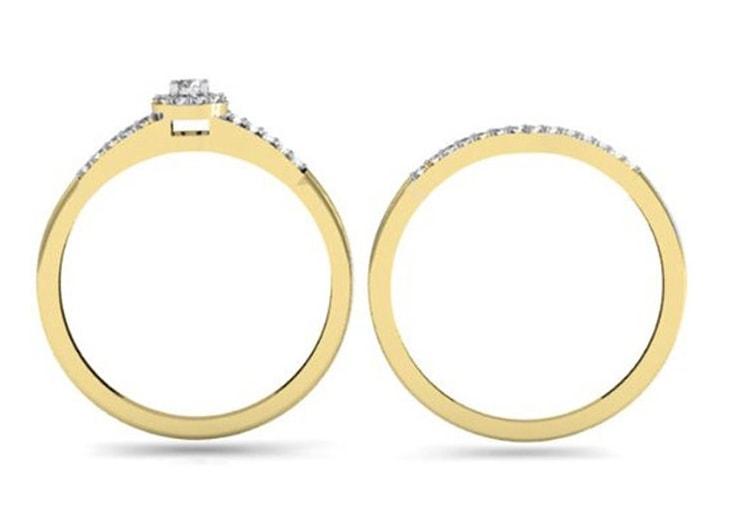 klenota ein diamant verlobungsring und ehering ringe gelbgold. Black Bedroom Furniture Sets. Home Design Ideas