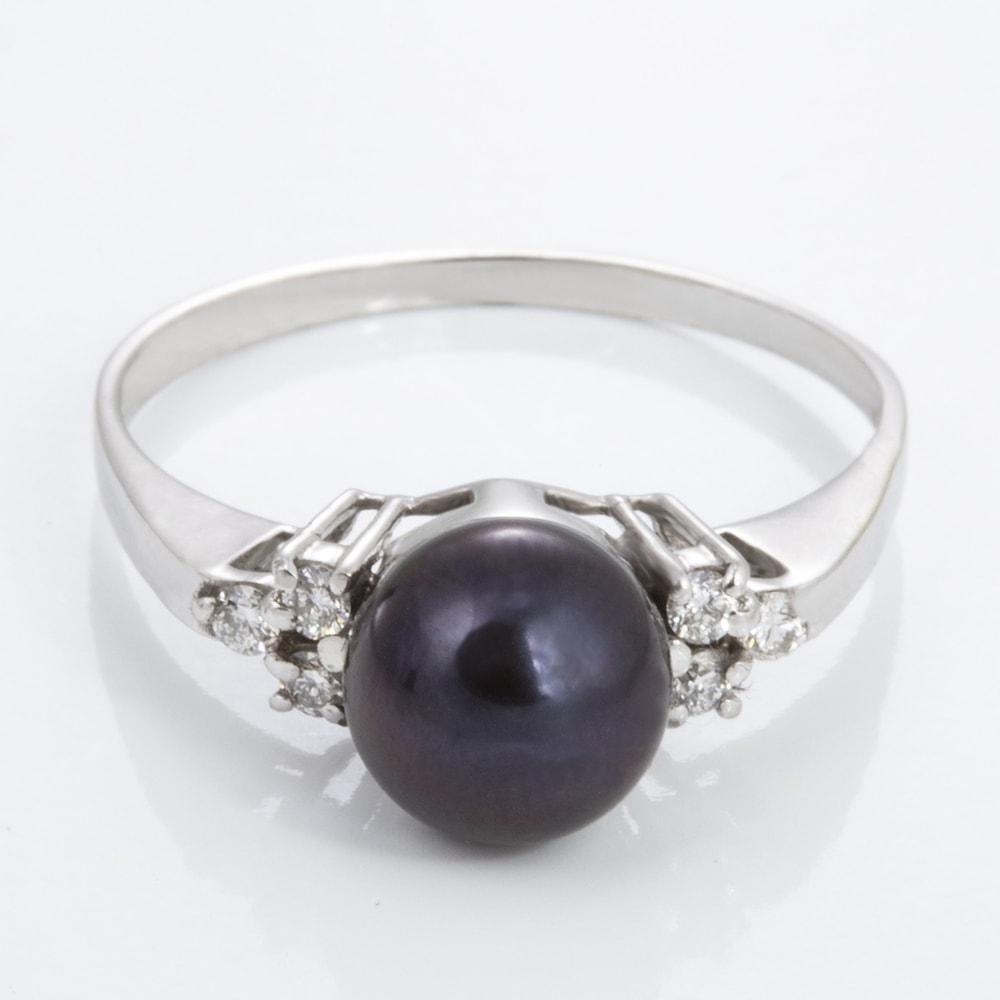 klenota bague avec perle noire et diamants bagues en perles bijoux en ligne. Black Bedroom Furniture Sets. Home Design Ideas