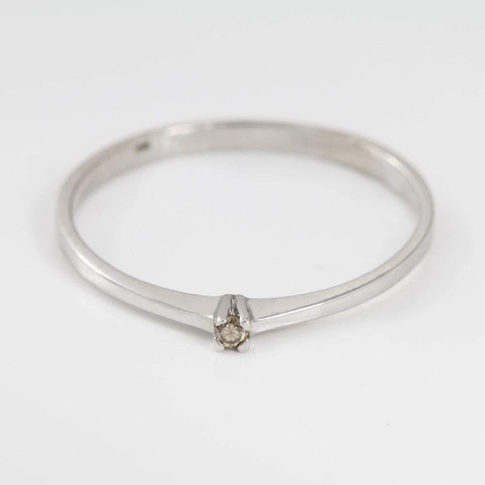 klenota silberring mit diamanten champagner ringe silber. Black Bedroom Furniture Sets. Home Design Ideas