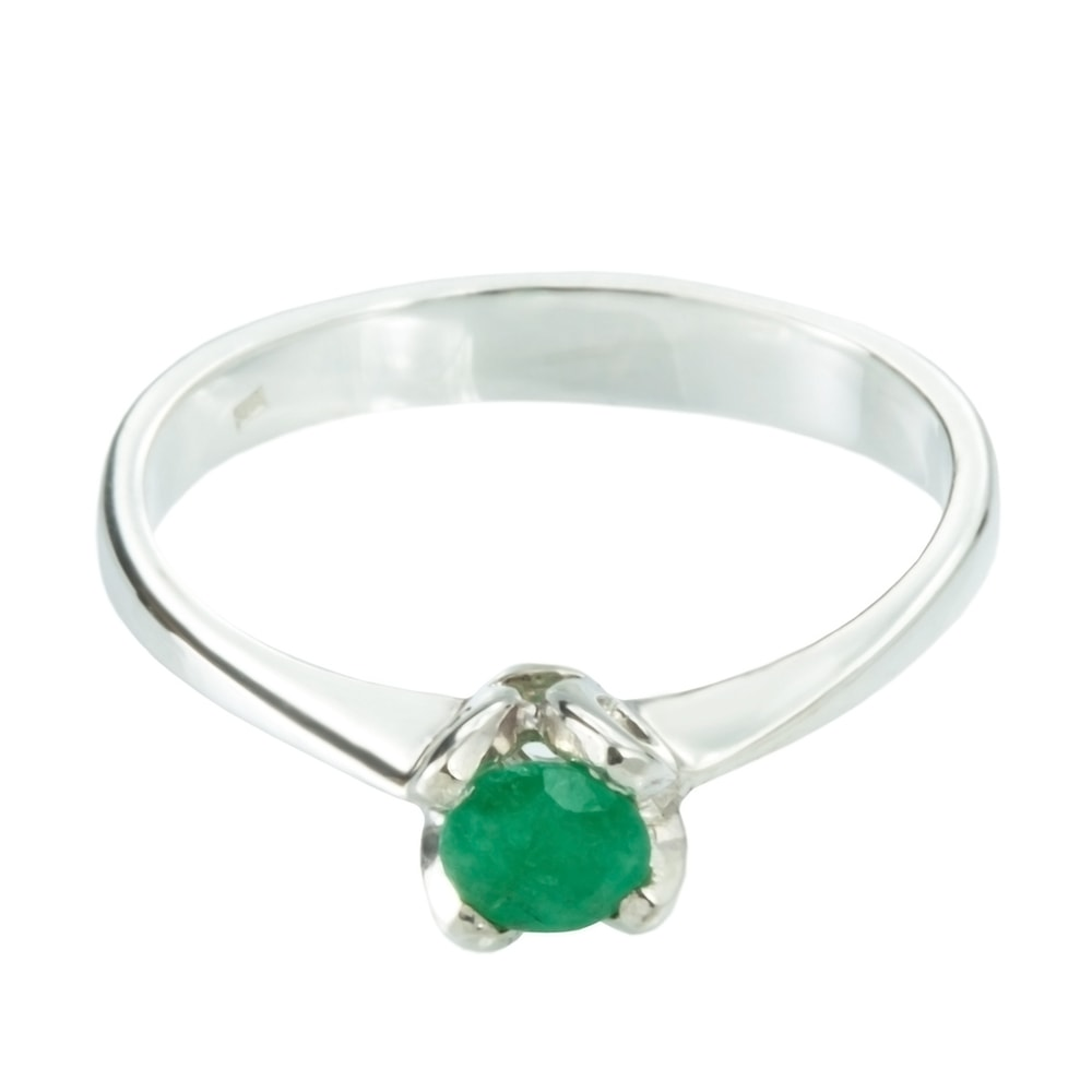 klenota gold ring with emerald white gold rings