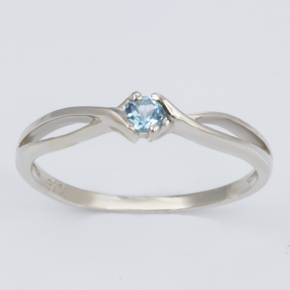 Silver  Ct Topaz Ring