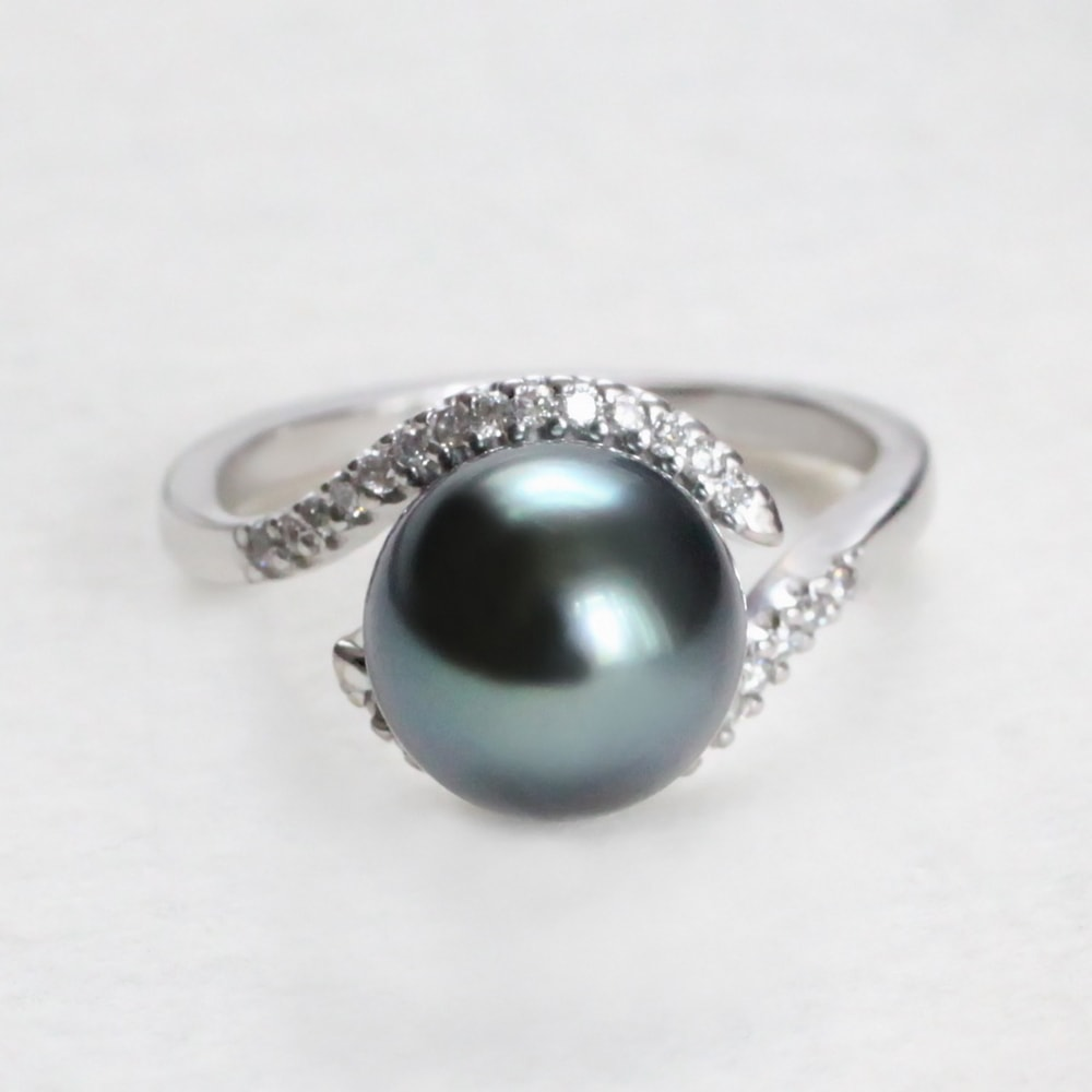 klenota bague en or avec diamants et perle de tahiti perles de tahiti bijoux en ligne. Black Bedroom Furniture Sets. Home Design Ideas